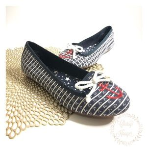 Sperry Top Siders | Nautical Anchor Ballet Flats